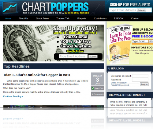 Chart Poppers Home Page
