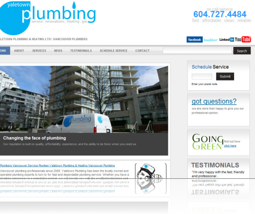 Yaletown Plumbing Home Page