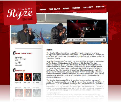 Riley And The Ryze Band Home Page
