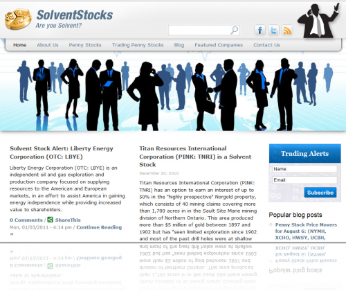Solvent Stocks Home Page
